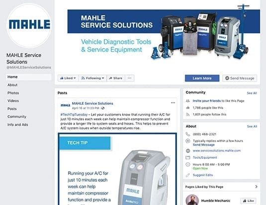 MAHLE Announces Launch of New Facebook Page