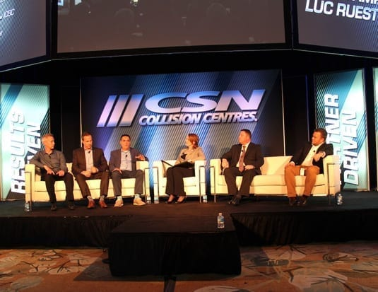 Industry panel discussed the importance of collaboration related to technology, safety and customer service in collision repairs