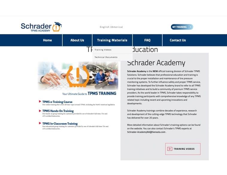 Schrader mise à jour TPMS