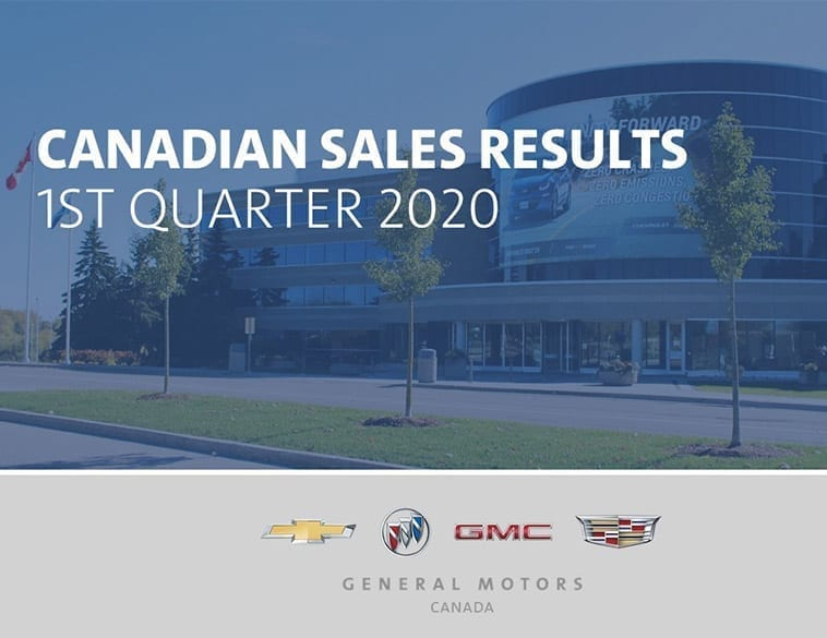 Chevrolet, Buick, GMC and Cadillac dealers delivered 48,201 vehicles in the first quarter of 2020.