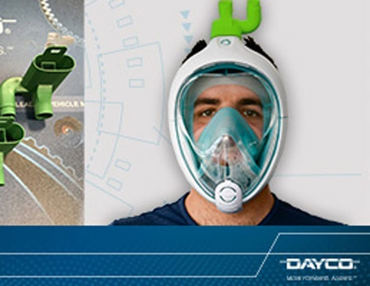 Snorkel Mask Becomes Ventilator (Photo : Dayco)