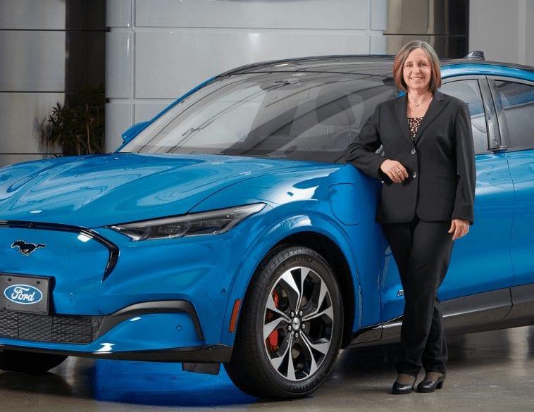 Bev Goodman ford canada president blue car portrait