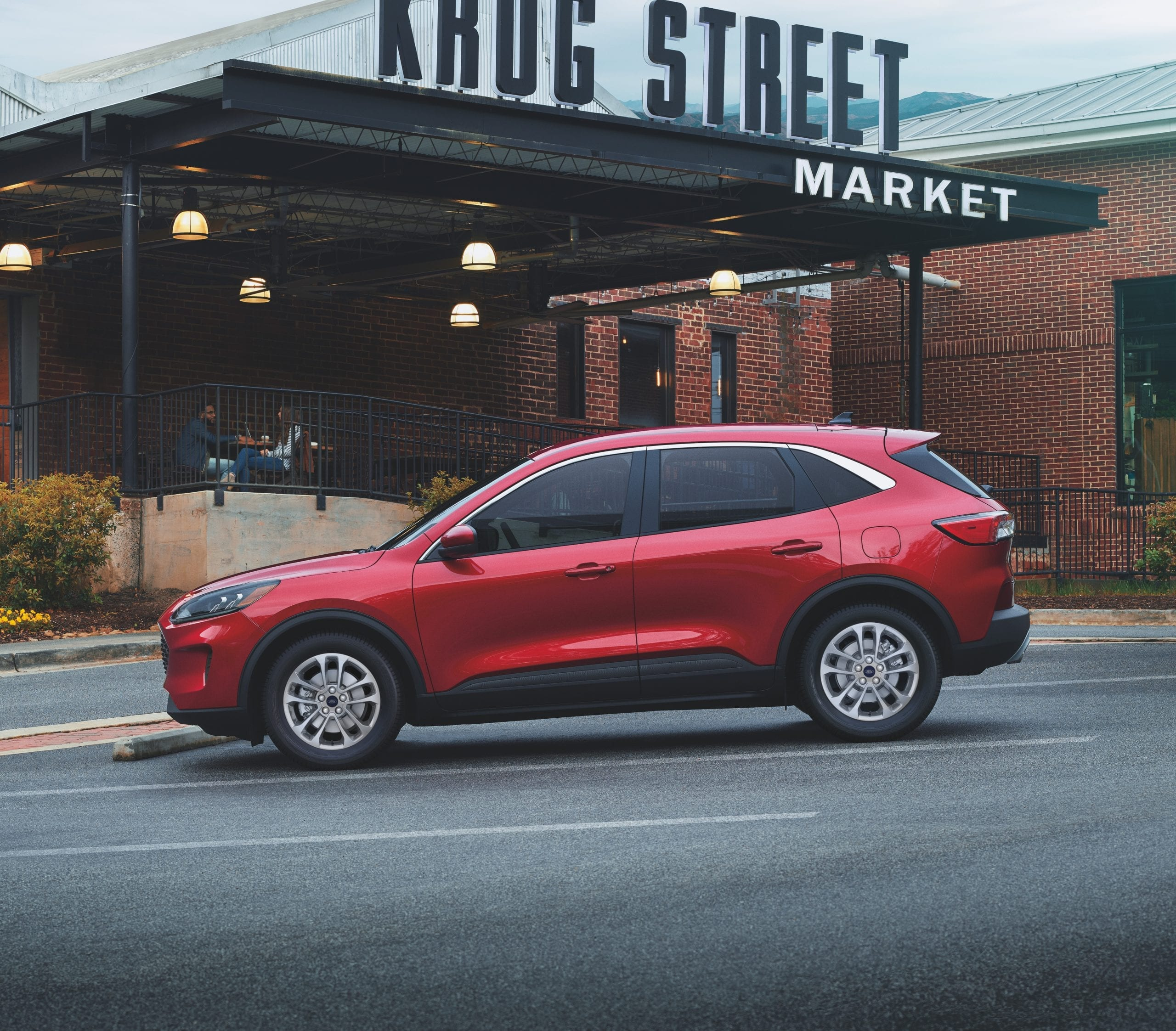 2021 Ford Escape red side profile street shot