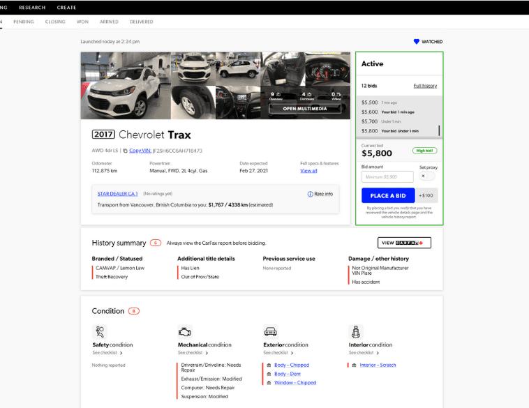 TradRev website details