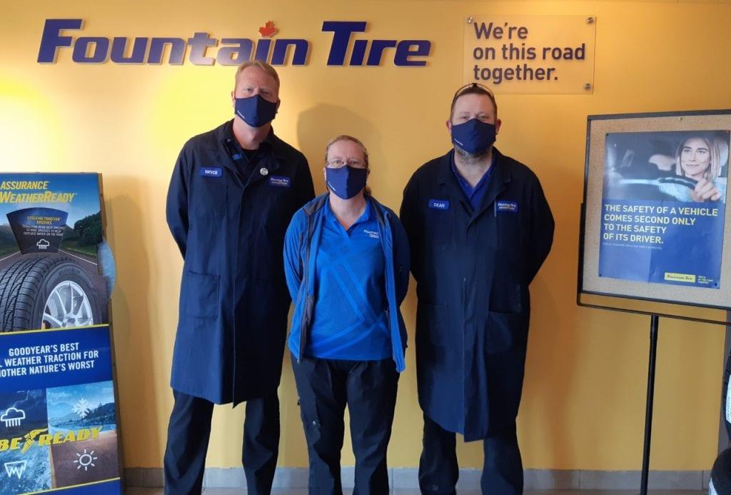 Fountain Tire team at Okotoks