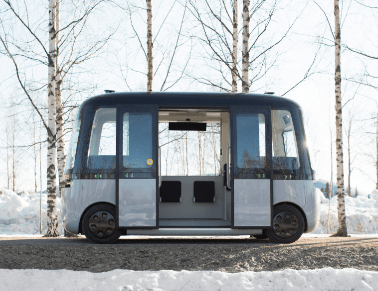GACHA autonomous bus smart tires Nokian