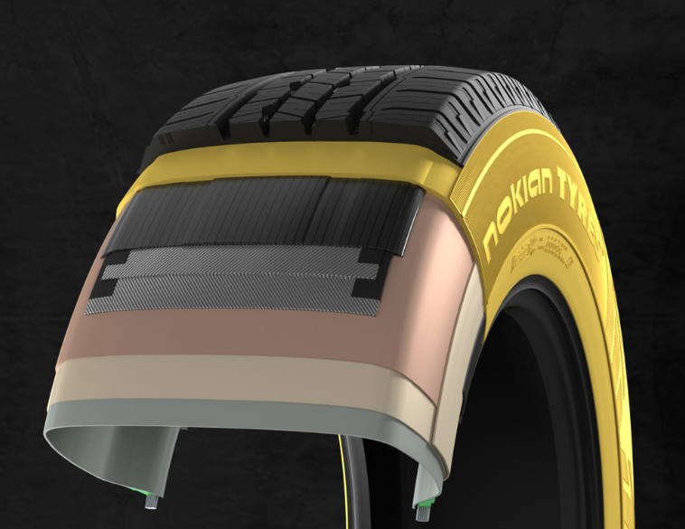 Nokian Tyres aramid technology layered view