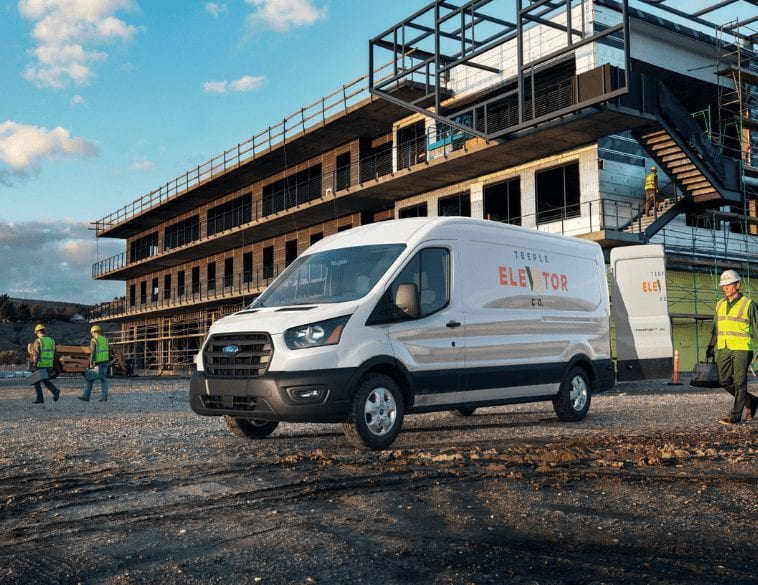 ford transit 2021 construction site