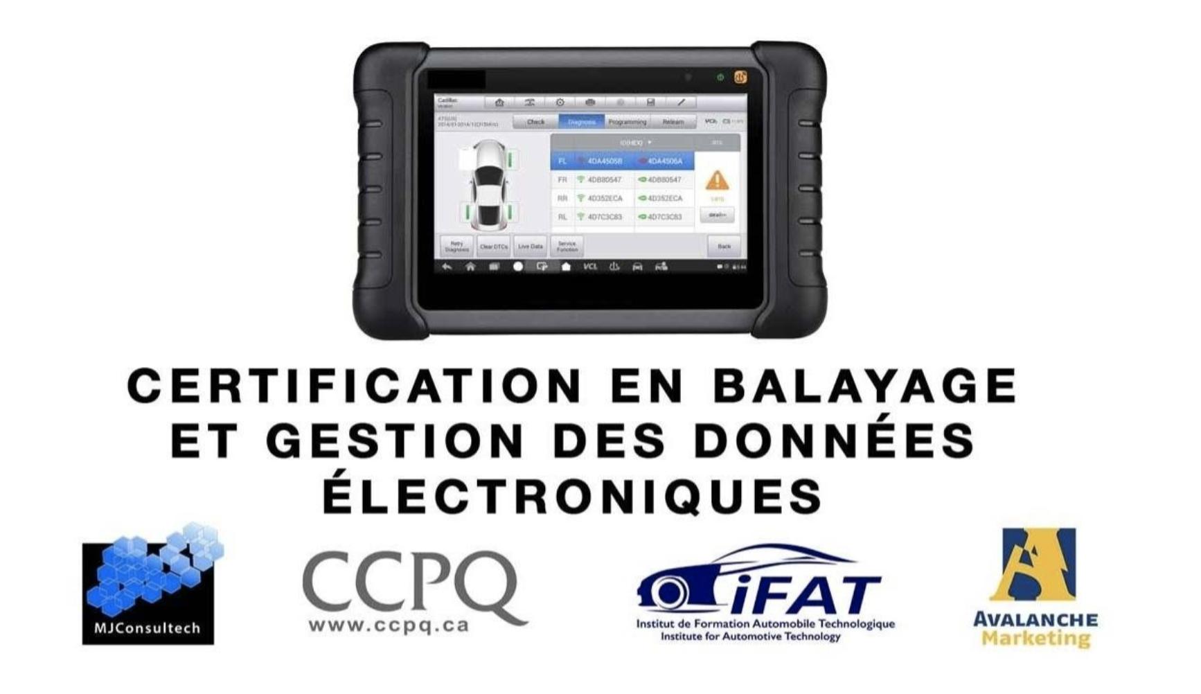 Certification Balayage gestion des données ccpq