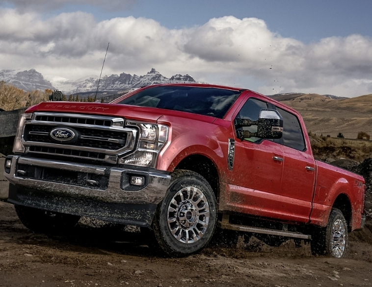 2021 Ford F350 Super Duty red off-road