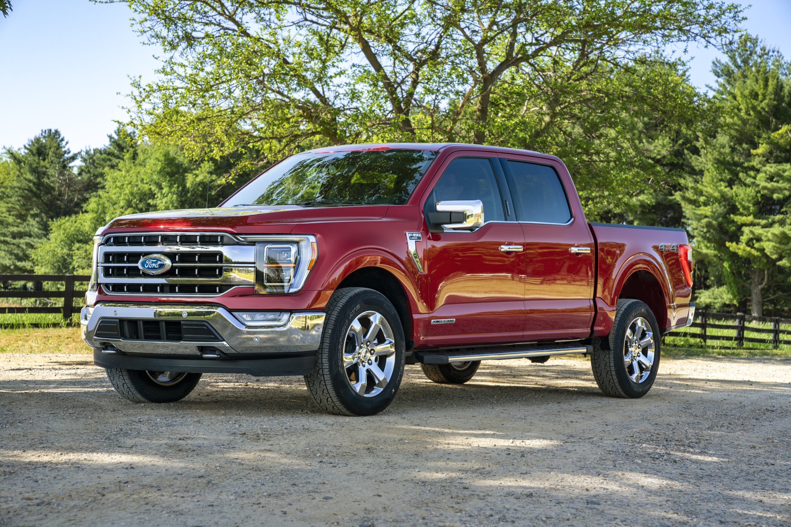 All-new FORD F-150 Lariat in Rapid Red Metallic Tinted Clearcoat.