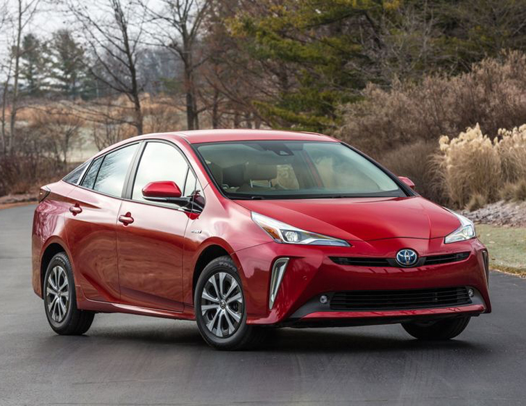 2022 Toyota Prius red