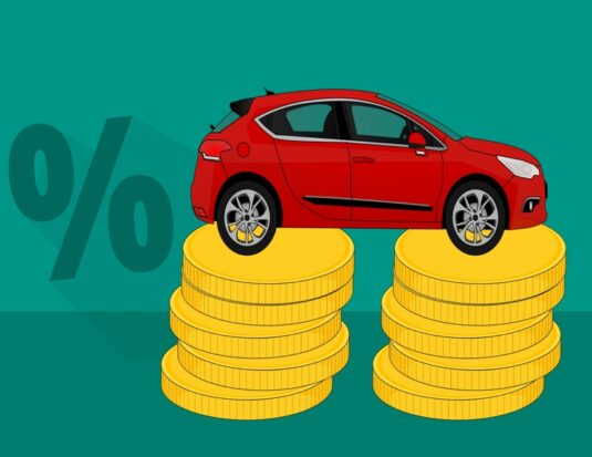 car on stack of coins