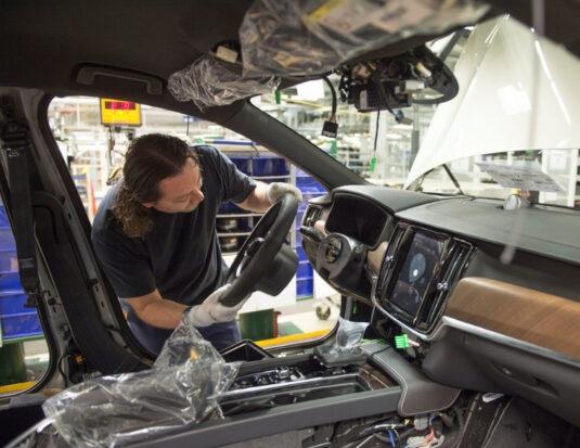 volvo production v90 driver side